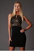 Šaty čierno-zlaté