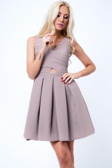 Kapučínové dámske šaty s motívom