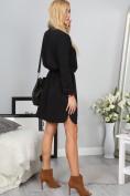 Štýlové čierne mini šaty so zapínaním na gombíky