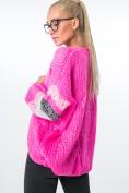 Blejzer vyrobený zo svetroviny, s farebnými pruhmi, ružový