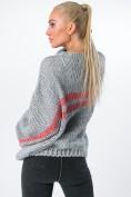 Oversize svetrer s trblietavými pruhmi, sivý