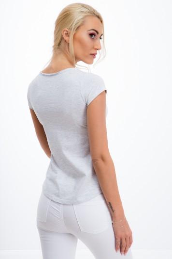 Sivé, pohodlné tričko s krátkym rukávom