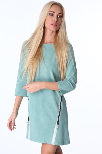 76e1dfe623fa Dámske šaty s ozdobnými pásmi na bokoch