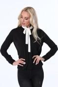 Dámska košeľa s kravatou, čierna
