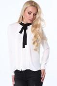 Dámska košeľa s kravatou, krémová
