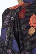 Dámsky top s kvetinovým vzorom, čierny