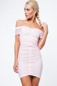 Dámske šaty s odhalenými ramenami, ružová