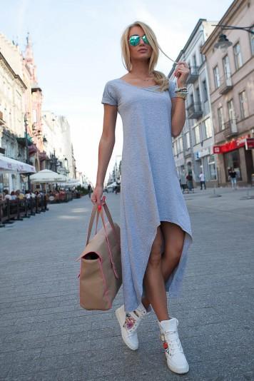 Letné sivé šaty