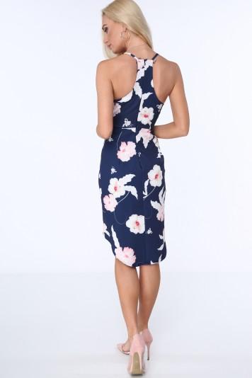 Moderné, pohodlné šaty na tenké ramienka, modré
