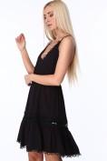 Dámske šaty s tenkými ramienkami a hlbokým výstrihom, čierne