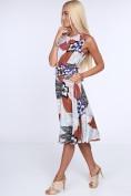 Svetlomodré dámske šaty s kvetinovým vzorom