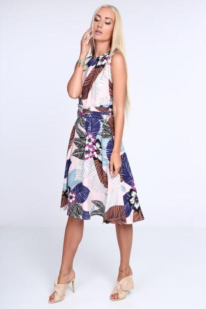 Biele dámske šaty s kvetinovým vzorom