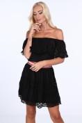 Čipkované dámske šaty v španielskom štýle, čierne