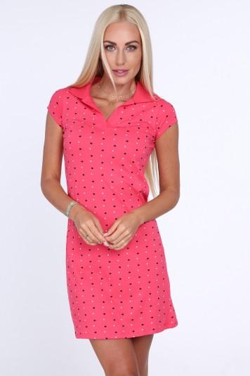 6aef25204f09 Dámske šaty s potlačou srdiečok a bodiek