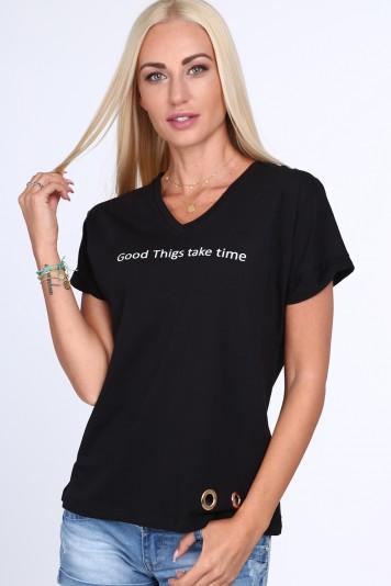 013a48446678 Dámske tričko s nápisom Good Things take time