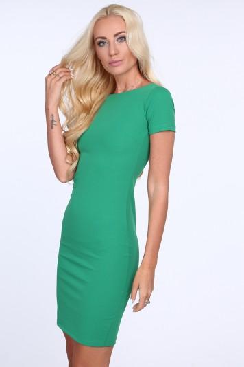 009113e212fa Zelené dámske šaty so zipsom na zadnej strane Veľkosť M