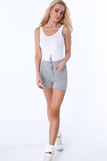 Sivé dámske teplákové šortky