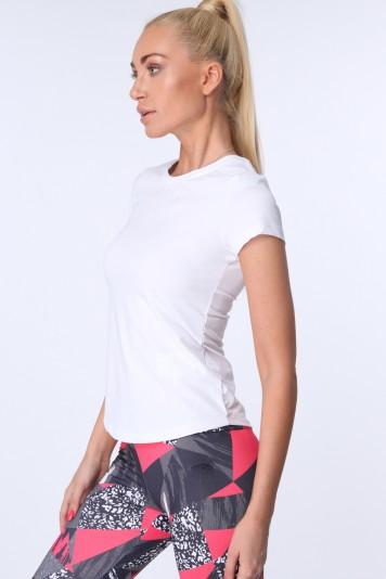 Biele dámske športové tričko s krátkymi rukávmi