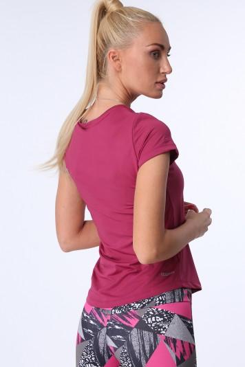Fialové dámske športové tričko s krátkymi rukávmi