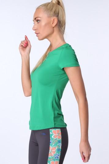 Zelené dámske športové tričko s krátkymi rukávmi