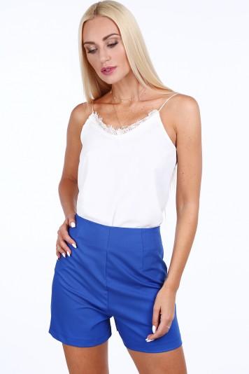 Modré dámske šortky v elegantnom štýle