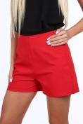 Červené dámske šortky v elegantnom štýle