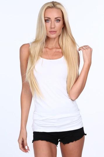 Biely dámsky top na ramienka