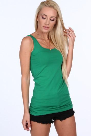 Zelený dámsky top na ramienka