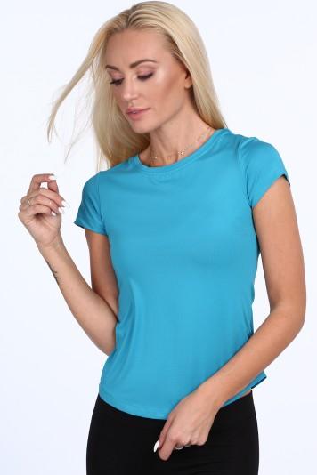 Modré dámske športové tričko s krátkymi rukávmi