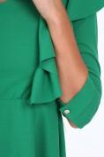 Zelené krátke dámske šaty s volánmi