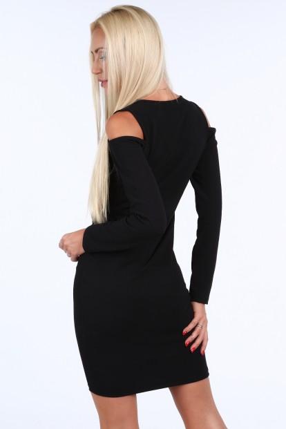 Čierne dámske šaty v minimalistickom štýle