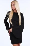 Čierne dámske šaty s nadrozmernými rukávmi