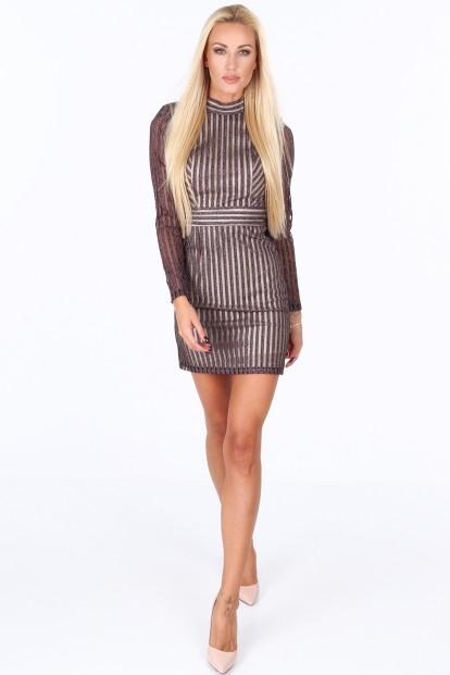 1cef588e333c Fialové dámske šaty s výstrihom na chrbte-FASARDIofficial.sk Veľkosť S
