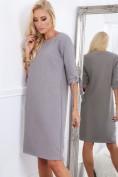 Sivé elegantne dámske šaty s mašľami na rukávoch