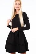 Čierne šaty s dvojitým volánom na spodku