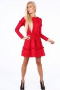 Červené šaty s dvojitým volánom na spodku