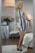 Štýlové šaty viacfarebné