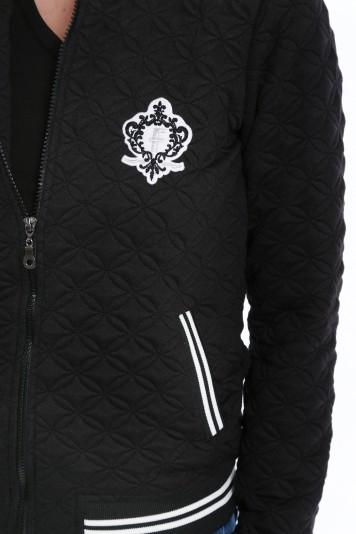 Čierna baseballová bunda