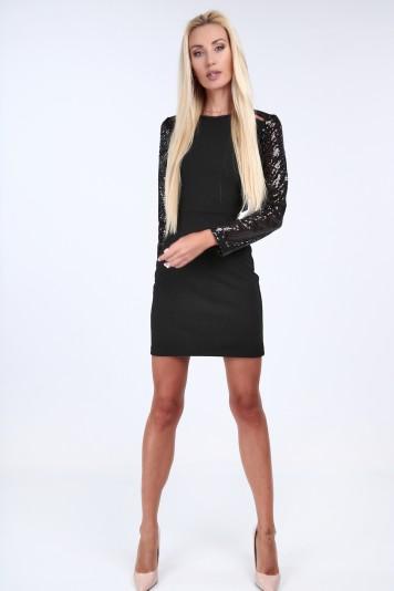 df9af1290e57 Čierne elegantné šaty s odhaleným chrbtom - FASARDIofficial.sk Veľkosť L