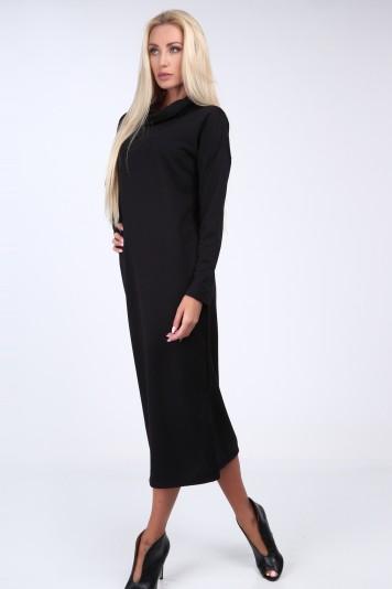 Čierne šaty so širokým golierom