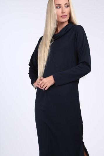 3782196bf099 Tmavomodré šaty so širokým golierom - FASARDIofficial.sk Veľkosť XL