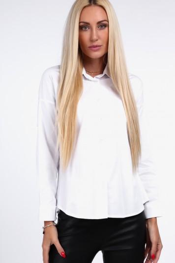 Nadčasová košeľa s golierom, biela