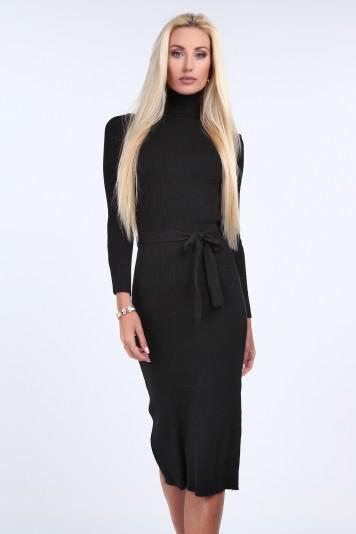 a8c30225762c Svetrové šaty s rolákovým golierom