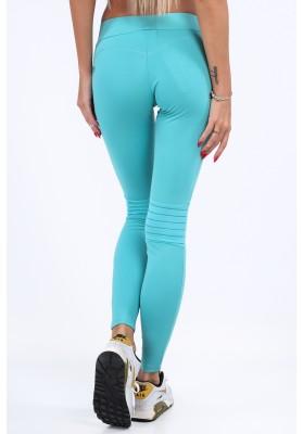 Miętowe legginsy sportowe dopasowane MR11025