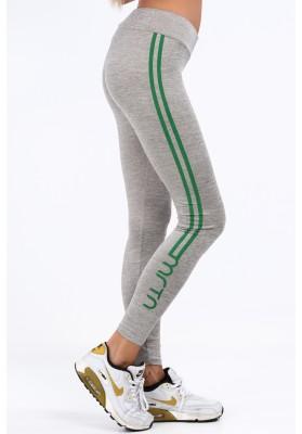Jasnoszare legginsy sportowe z nadrukiem MR11145