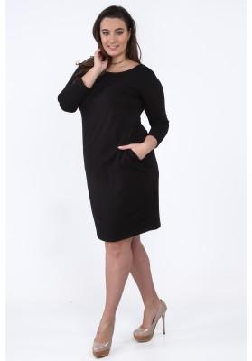 Sukienka Plus Size na co dzień czarna B14