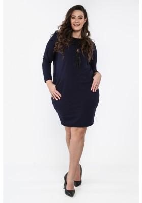 Bawełniana sukienka Plus Size na co dzień granatowa B03