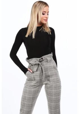 Elegantné kárované nohavice, BLACK/ WHITE