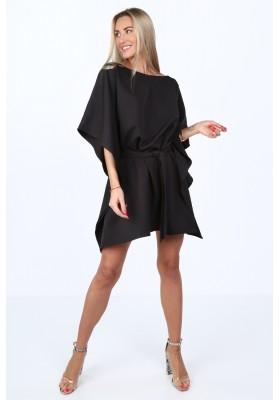 Moderné, oversize šaty podobné kimonu, čierne