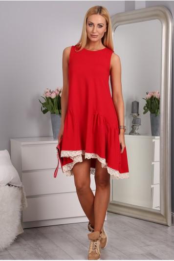 Červené šaty bavlnené